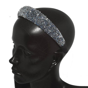 Picture of Crystal Headband 30 Mm Navy
