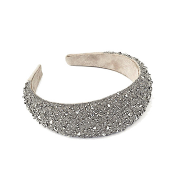 Picture of Crystal Headband 40 Mm Taupe