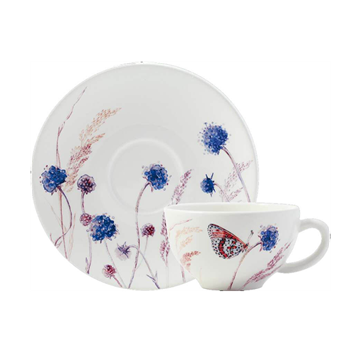 Picture of Azur 2 Breakfast Cups & Saucers 26 cl - Ø 18 cm