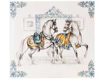 "Picture of Chevaux du Soleil 1 Square Plate n°3 29,5 x 26,5 cm - 11 1/2"" x 10 1/2"""