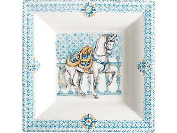 "Picture of Chevaux du Soleil 1 Square tray n°2 17 x 17 cm - 6 3/4"" x 6 3/4"""