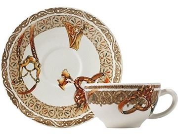 Picture of Chevaux du Vent 2 Breakfast Cup & Saucer 26 cl - Ø 18 cm