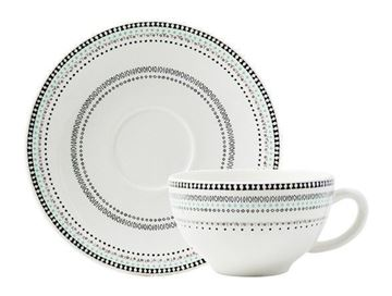 Picture of Coquettes 2 Breakfast Cups & Saucers 26 cl - Ø 18 cm