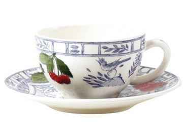 Picture of Oiseau Bleu 2 Tea Cups and Saucers 16 cl, Ø 15.2 cm