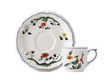 Picture of Oiseaux de Paradis 2 Cofffee Cups & Saucers 8.5 cl - Ø 14 cm