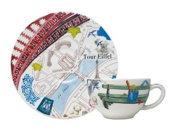 Picture of Paris.Paris 2 Tea Cups & Scrs 19 cl - 15,2 cm