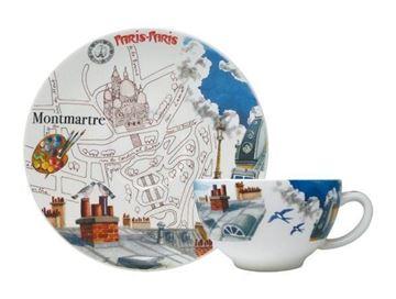 Picture of Paris.Paris 2 Breakfast Cups & Scrs 26 cl - Ø 18 cm