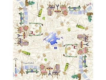 "Picture of Paris.Paris 1 Square Tablecloth 120 x 120 cm - 47"" sq."