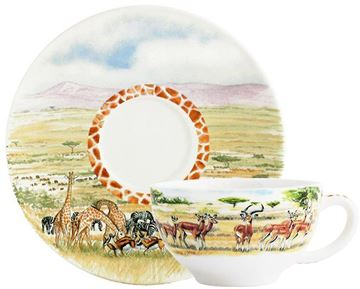 Picture of Safari 2 Breakfast Cups & Saucers 26 cl - Ø 18 cm