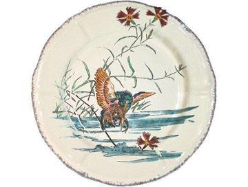 Picture of Grands Oiseaux 1 Dessert plate Martin pêcheur Ø 23,2 cm