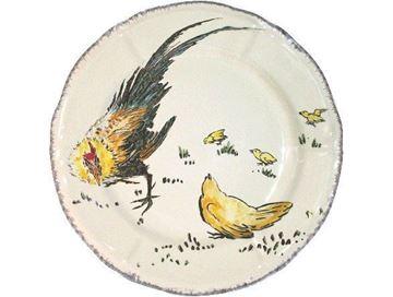 Picture of Grands Oiseaux 1 Dessert plate Coq et Poule Ø 23,2 cm