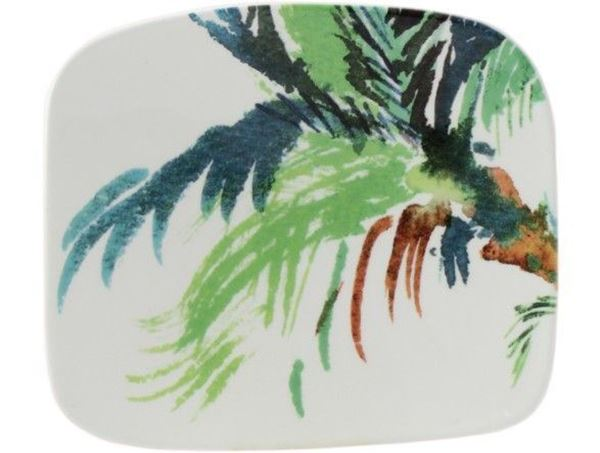 Picture of jardins extraordinaires 1 organic square plate small
