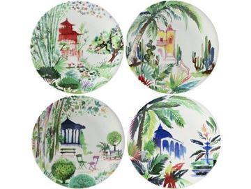 Picture of jardins extraordinaires 4 dessert plates